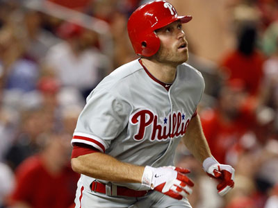 Outfielder Nate Schierholtz was placed on the 15-day disabled list Monday. (AP Photo/Carolyn Kaster)