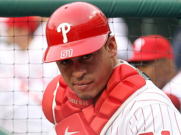 Phillies catcher Carlos Ruiz. (Yong Kim/Staff Photographer)