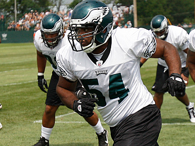 Eagles rookie Brandon Graham has been named the starter at left defensive end. ( David Maialetti / staff photographer)