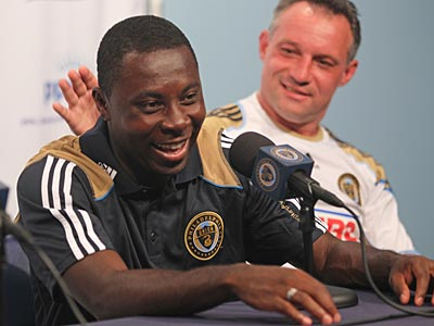 Freddy Adu and Peter Nowak won a championship together with D.C. United in 2004. (Michael Bryant/Staff Photographer)