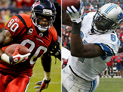 Calvin an Andre Johnson (no relation) share the top spot on my list. (AP Photos)