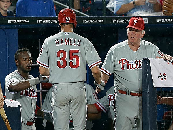 Phillies pitcher Cole Hamels and manager Charlie Manuel. (John Bazemore/AP)