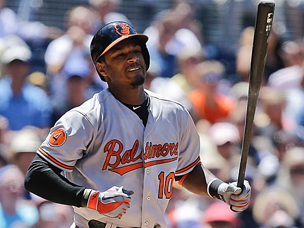 The Orioles´ Adam Jones. (Lenny Ignelzi/AP)