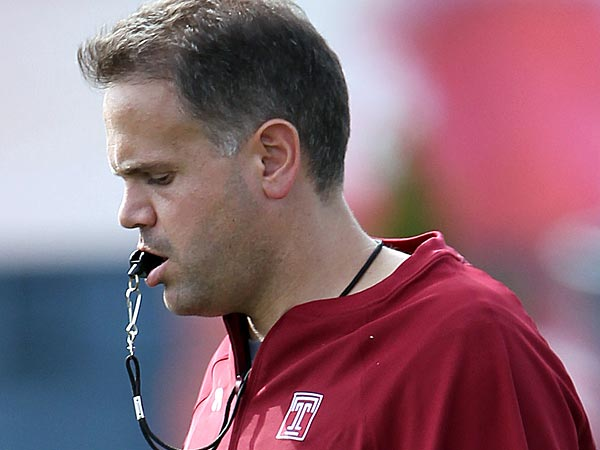 Temple football head coach Matt Rhule.  (Yong Kim/Staff Photographer)