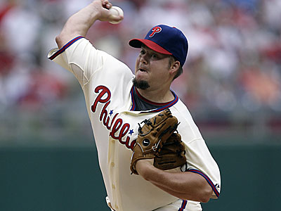 Starter Joe Blanton will try to get the Phillies back in the win column tonight against the Dodgers. (File photo)