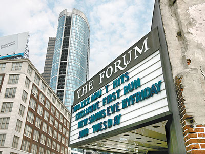 The Forum Theater, an adult movie house, at 22nd and Market streets. (Charles Fox / Staff Photographer)