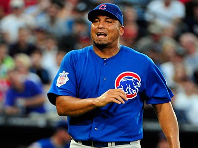 Pitcher Carlos Zambrano was placed on the disqualified list by the Cubs on Saturday. (Dave Tulis/AP)