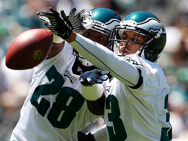 Eagles rookies Earl Wolff (left) and Jordan Poyer (right). (David Maialetti/Staff Photographer)