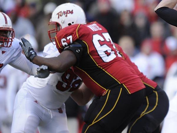 Offensive lineman Pete White. (Nick Wass/AP)