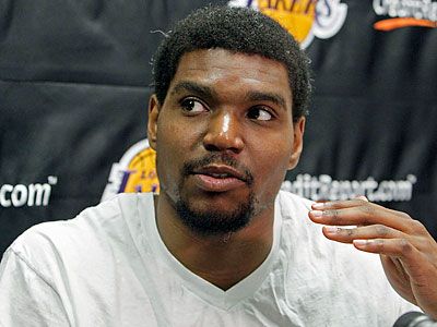 The non-surgical procedure Andrew Bynum will undergo has been used before to treat osteoarthritis in athletes. (Reed Saxon/AP)