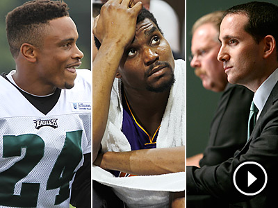 From Nnamdi Asomugha´s injury to Andrew Bynum´s pending knee surgery, what´s the biggest question in Philly sports? (AP/Staff photos)