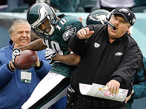 Eagles wide reciever DeSean Jackson took some time to remember his former coach Andy Reid. (Carolyn Kaster/AP)