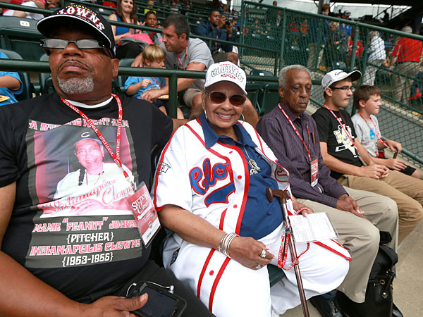 "Mamie ""Peanut"" Johnson came to see Taney´s pitcher Mo´ne Davis win over Nashville. (Davis Swanson/Staff Photographer)"