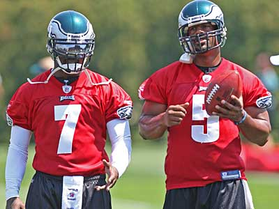 """I believe in second chances and God forgives our sins,"" said Donovan McNabb (5) about Michael Vick (7)"