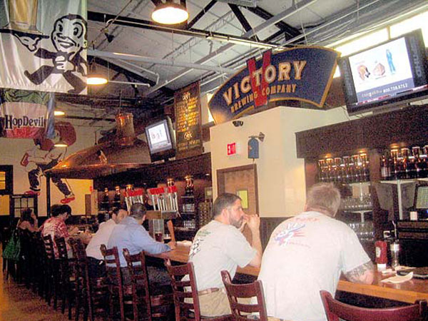 The Victory brewpub in Downingtown.