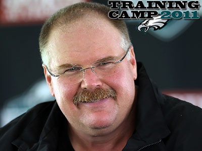 Head coach Andy Reid said the Eagles´ starters will play the first half of Thursday´s game. (Steven M. Falk/Staff Photographer)