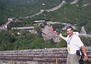 Daily News columnist Sam Donnellon at the Great Wall of China.
