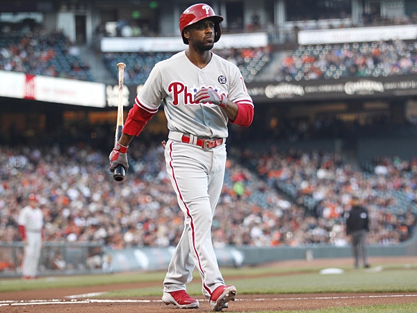 Phillies shortstop Jimmy Rollins. (Beck Diefenbach/AP)