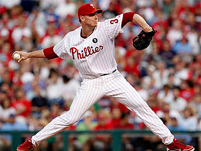 Roy Halladay, 7-0 in his previous 10 home starts, had his 14th game with double-digit strikeouts. (RON CORTES / Staff Photographer)