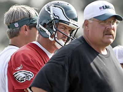 Kevin Kolb and the Eagles endured one of Andy Reid´s longest camps but deemed it a success. (Steven M. Falk / Staff Photographer)
