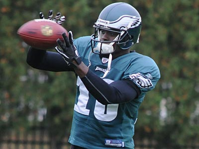 Jeremy Maclin practiced with the Eagles for the first time in training camp Saturday. (Sarah J. Glover/Staff file photo)