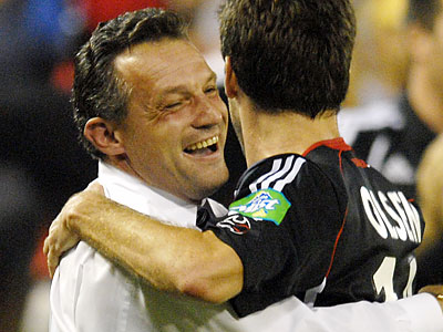 Union coach Peter Nowak guided D.C. United to its last title in 2004. Current D.C. coach Ben Olsen was one of his players. (Nick Wass/AP)