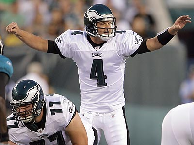 Kevin Kolb and the Eagles´ offense struggled to score in the red zone against Jacksonville. (Yong Kim/Staff Photographer)
