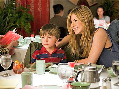 """Jennifer Aniston, right and Thomas Robinson are shown in a scene from """"The Switch."""" (AP Photo/Miramax Films-Disney, Macall Polay)"""