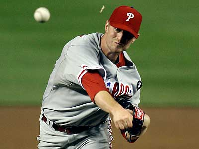 Kyle Kendrick replaced Roy Oswalt on the mound after the rain delay. (Jacquelyn Martin/AP)