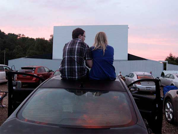 The Skyvue Drive-In in Lancaster, Ohio, was the first of that state´s 29 drive-ins to switch to digital. (Jay Laprete / Associated Press)