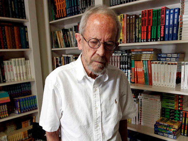 "Elmore Leonard was honored in 2012 with a medal for distinguished contribution to American letters, joining a group that includes Arthur Miller and Toni Morrison. ""I don´t see any objection to my being on this list,"" he says."