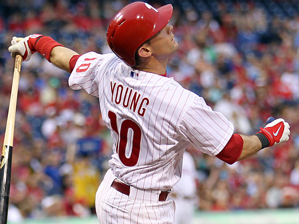 Phillies infielder Michael Young. (Yong Kim/Staff Photographer)