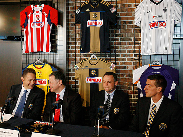 The Union and Bimbo first became commercial partners in 2011. Their press conference back then featured jerseys from clubs across North and Central America that Bimbo sponsors. (Michael S. Wirtz/Staff file photo)
