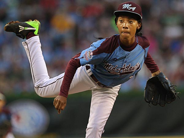 Taney pitcher Mo´ne Davis. (Michael Bryant/Staff Photographer)