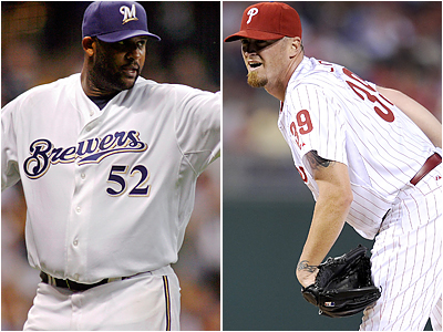 C.C. Sabathia and Brett Myers have been two of the best pitchers in the National League since the All-Star Game.