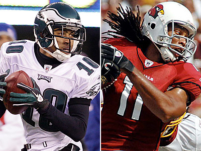 Will DeSean Jackson want a deal similar to Larry Fitzgerald´s eight-year, $120 million deal? (AP Photos)