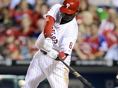 """He's getting his swing back, his timing and everything,"" Charlie Manuel said about Ryan Howard. (Michael Perez/AP)"