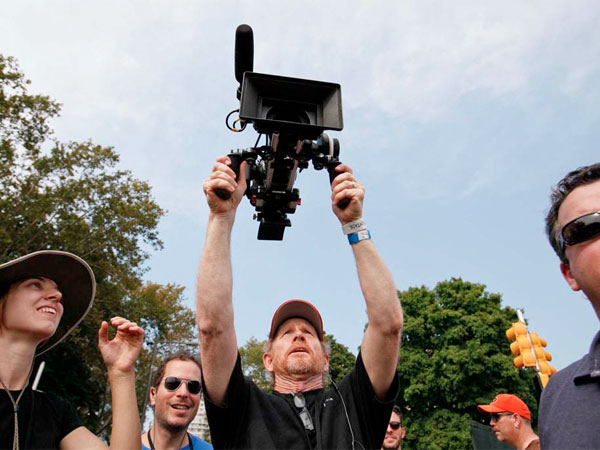 Director Ron Howard photographs the crowd at Made in America on September 1, 2012.  ( MICHAEL S. WIRTZ / Staff Photographer ) August 31, 2012.