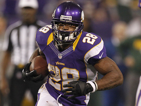 Vikings running back Adrian Peterson was the common denominator in countless fantasy championships. (Genevieve Ross/AP file photo)