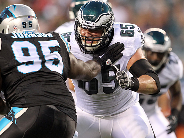 Eagles rookie offensive lineman Lane Johnson. (Yong Kim/Staff Photographer)