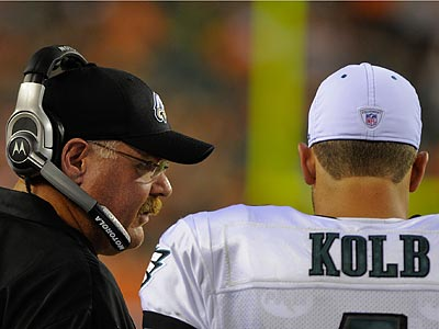 Andy Reid and Kevin Kolb will usher in a new era of Eagles´ football Sunday at the Linc. (Photo: Thomas E. Smith)