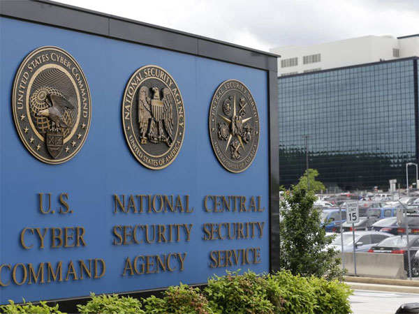 FILE - This June 6, 213 file photo shows the sign outside the National Security Agency (NSA) campus in Fort Meade, Md. (AP Photo/Patrick Semansky, File)