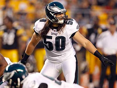Can Casey Matthews hold on to his position as the starting middle linebacker for the Eagles? (Yong Kim/Staff Photographer)