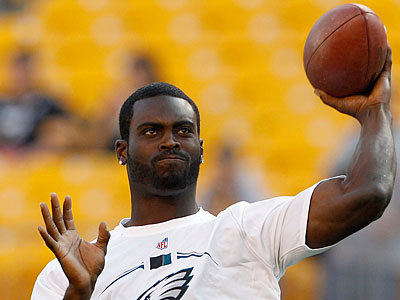 Quarterback Michael Vick threw three interceptions against Pittsburgh last week. (Yong Kim/Staff Photographer)