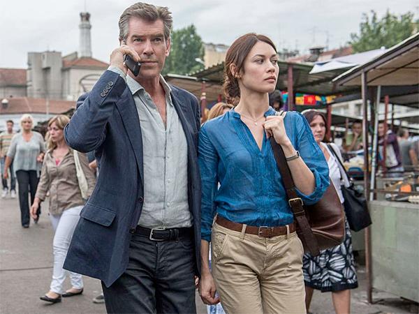 "Pierce Brosnan and Olga Kurylenko star in ""November Man,"" which opens Wednesday. (Aleksandar Letic/Relativity Media)"