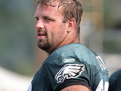 Offensive tackle Jon Runyan worked out for the Eagles Thursday morning. (Steven M. Falk/Staff file photo)