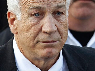 Life ahead for Jerry Sandusky: He will walk into state prison with little more than a watch and wedding band. He´ll be able to work a 30-hour week to make a few dollars. (AP Photo / Matt Rourke, File)