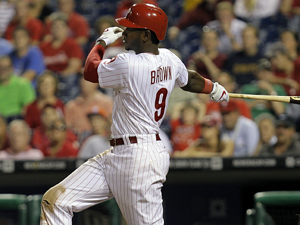 Phillies outfielder Domonic Brown. (Laurence Kesterson/AP)