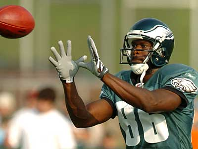 Could Eagles wide receiver Reggie Brown get dealt before the start of the season? (File photo)