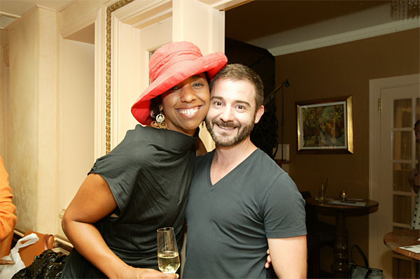 Project Runway contestant Kristin Haskins-Simms and home decor guru Matthew Izzo. (Photo by phillywedding@yahoo.com)